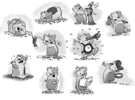 Hamster Spot Illustrations